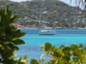 Blue water anchorage between Petit St Vincent and Petit Martinique